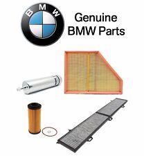 BMW E90 335d Base Sedan 3.0L L6 TDI Oil Fuel Air & Cabin Air Filters Kit Genuine
