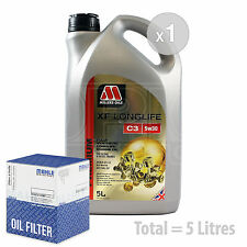 Engine Oil and Filter Service Kit 5 LITRES Millers XF Longlife C3 5w-30 5L