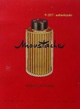 PUBLICITE MARCEL ROCHAS MOUSTACHE EAU DE COLOGNE HOMME DE 1957 FRENCH AD PUB