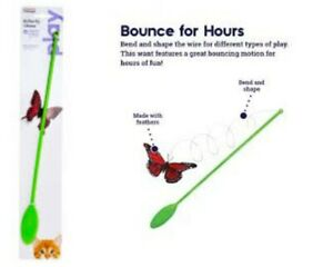 Petstages BUTTERFLY CHASE Dangler Interactive Teaser Cat Wand Toy Fluttering