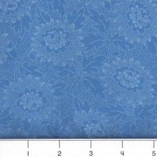 """#1494 FAT QUARTER FABRIC  """"Lacy"""" Turquoise"""