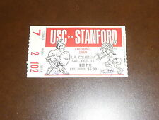 1969 STANFORD AT USC COLLEGE FOOTBALL TICKET STUB   MINT