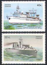 Ucraina 1997 Navi/Barche/Blu Marino/Nautico/Trasporto/Radio/SCIENZA Set 2v (n41042)