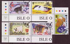 Isle Von Mann 1996 Manx Katzen Gestempelt