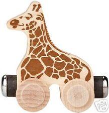 5pc Circus Lion Elephant Giraffe Track Wooden Train Toy