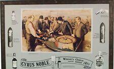 RARE CYRUS NOBLE CARDBOARD ADVERTISMENT VINTAGE FRAMED LARGE 42X29