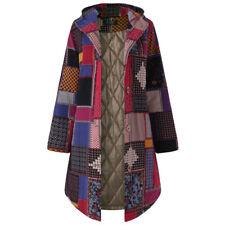 Ladies Coats Jacket Coats Patchwork Long Fashion Autumn Jacket Buttons
