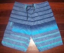 Boardshorts. Men's Boardies. Bathers, Shorts, Size 32. Blue/Grey Print.