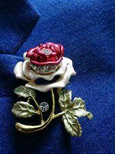 CRYSTAL BROOCH ROSE BROOCH WEDDING BIRTHDAY  616