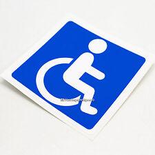 Signo de discapacidad Insignia Azul discapacitados coche, autobús, De Vinilo Autoadhesivo Con Ventana, Parachoques