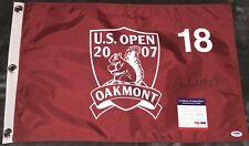CHI-CHI RODRIGUEZ US OPEN GOLF FLAG @ OAKMONT (PGA) AUTOGRAPHED SIGNED PSA/DNA