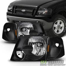 Black 2002-2005 Ford Explorer Headlights +Corner Signal Lights Left+Right 02-05