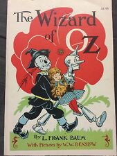 Vintage The Wizard of Oz by L. Frank Baum pictures W.W. Denslow. 1956 paperback