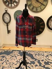 Ladies Mossimo Supply co Red Plaid Shirt Size Small