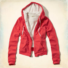 NWTHollister by Abercrombie Breakwall Sherpa Lined Hoodie- Red - XS
