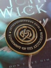John Wick High Table Adjudicator METAL & ENAMEL Coin!! Highest Quality!