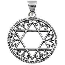 Filigree Style Star of David .925 Sterling Silver Pendant