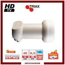 LNB Single Triax TSI 006 0,3 dB Gain 64 dB Tête 1 sortie Full HD 3D Ready
