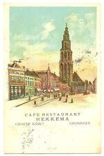 NEDERLAND 1906  AK  GRONINGEN HEKKEMA  ZEER FRAAI
