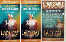 LADY DAY  WYNDHAM'S THEATRE FLYERS & ADVERT AUDRA McDONALD AS BILLIE HOLIDAY
