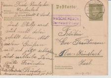 DEUTSCHES REICH,GA, P 199I, Landpoststpl. Waschenbach/Darmstadt/Land,3.5.33
