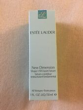 NIB Estée Lauder New Dimension Shape + Fill Expert Serum 1fl oz Anti Aging Lift