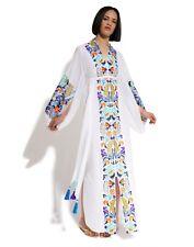 Ukrainian embroidered white dress boho style - folk ethnic vyshyvanka. All sizes