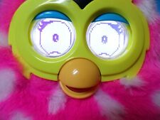 FURBY BOOM PINK WITH WHITE POLKA DOTS AND AQUA BLUE EARS AND FEET