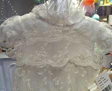 NWT Laura Ashley London Baby-Girls Newborn Silk Christening Gown 3-6 Ivory