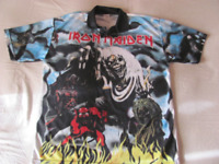 IRON MAIDEN  The Numbers of the Beast   - Rare Vintage T-Shirt 1983  , Taglia XL