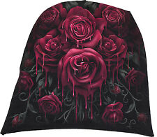 Spiral Direct BLOOD ROSE Beanie Beanies/Music/floral/Rock/Metal/flower/Biker/Hat