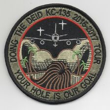 """USAF Patch 379th EXPEDITIONARY AIRCRAFT MAINTENANCE SQUADRON Morale, 4"""" Diameter"""