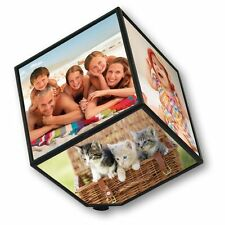 Gift 360 Rerating Revoling Photo Multi Picture Cube Frames Home Room Decor 15 cm