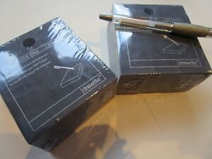 2 x Black Note Pads. Memo Cube Block Notes. With Pen holder & FREE Gel pen