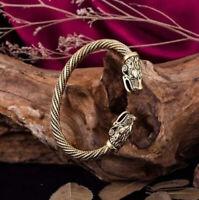 Bracelet Viking Tête de Dragon Antique artefact en Zinc Très Belle Finition