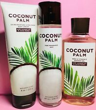 *New* Coconut Palm ~ 3Pc Gift Set ~ Bath & Body Works ~ Free Ship!