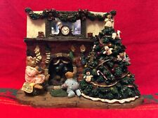 """Boyds Bears & Friends 2004 """"Twas The Night Before Christmas"""" Lighted 8.5"""" W"""