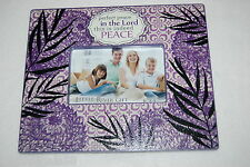 FRAME Hang Stand PURPLE BLACK Textured PEACE IN THE LORD Plant 9x11 for 6x4 pic