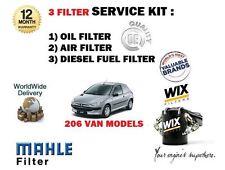 Per PEUGEOT 206 Van 1.4 HDi 2002-12/2006 NUOVO Olio Aria Carburante 3 FILTRO Servizio Kit