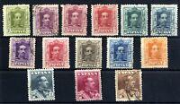 Sellos de España 1922-1930 nº 310/323 Alfonso XIII vaquer matasellados