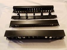 Cable Manager Horizontal 1U Black - Quantity 4, - 4 Different Styles