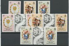 BRITISH VIRGIN ISLANDS 1981 ROYAL WEDDING DIANA & CHARLES U/M set+GUTTERPAIR-set