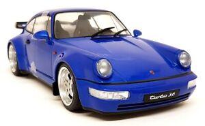 Solido 1/18 Scale Porsche 911 964 Turbo 3.6 Electrik Blue 1990 Diecast model car