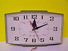 Vintage General Electric GE Mid Century Danish Green Wall Clock Model 2153