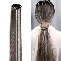 Hair Chain Hair Jewelry Accessories Geometric Aluminum Simple Long Tassel Chains