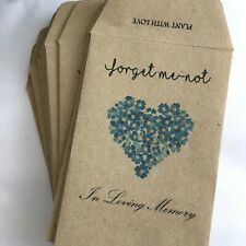 10 Forget Me Not Seed Packets Memorial|Forget Me-not (with Seeds) Remembrance