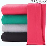 100% Brushed Cotton Thermal Flannel Fitted Sheet / Flat Sheet / Pillowcases Pair