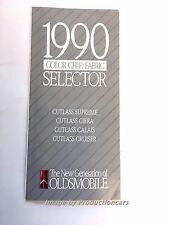 1990 Oldsmobile Color paint and Fabric Guide Brochure - Cutlass Supreme Cruiser