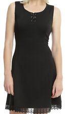 GOTHIC RETRO 90S STYLE CORSET LACE TRIM SUMMER DRESS NWT SZ M LITTLE BLACK DRESS