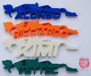 F1 2021 3D Printed Car Wall Art Verstappen Hamilton Lando - Scuderia GP